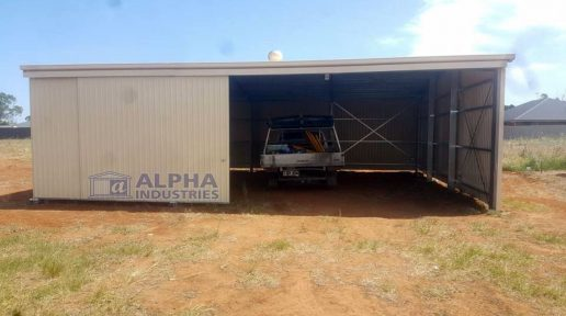 COLORBOND® Paperbark Rural Shed with 6m Clear Span