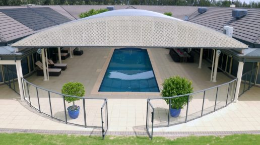 Curved Patio/Pool Cover
