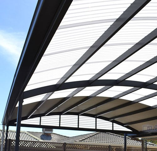 Curved Roof Carport