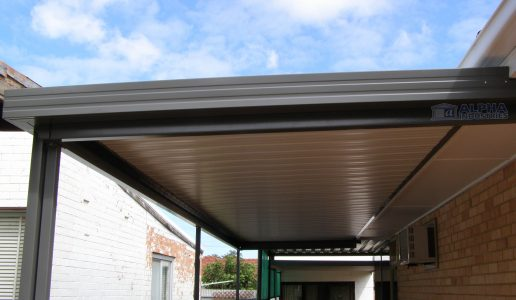 attached flat carport