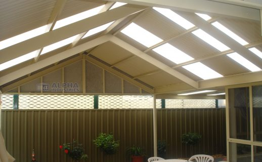Attached Gable Patio with Powdercoated Framework