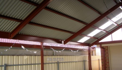 attached gable carport