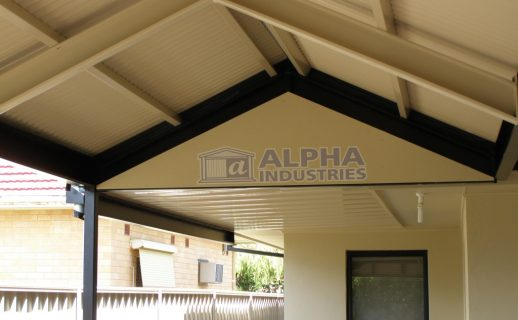 Attached Gable + Flat Verandah with Powdercoated Framework
