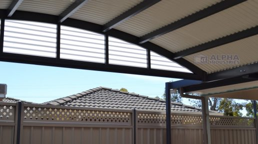 Curved Patio Infill in Polycarbonate
