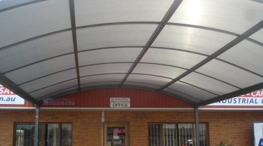 Curved Verandah with Twinwall