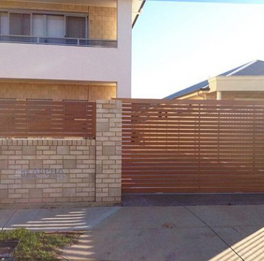 Faux Timber Slat Gate & Fencing