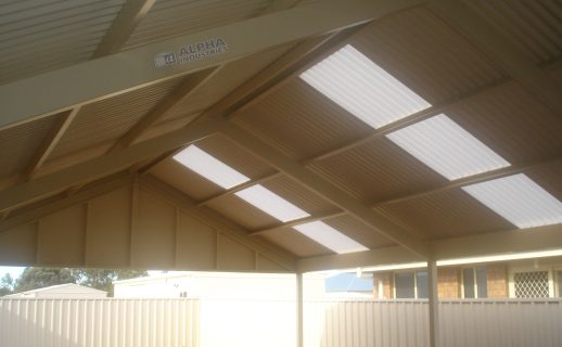 Attached Gable Verandah with Powdercoated Framework
