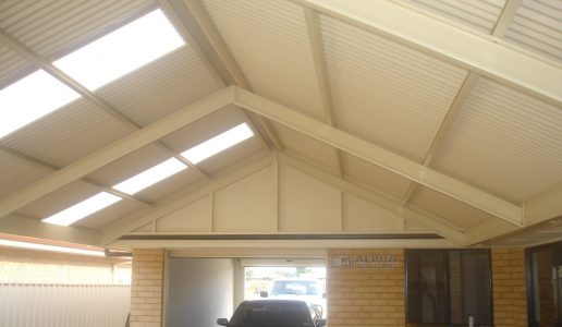 attached gable carport verandah