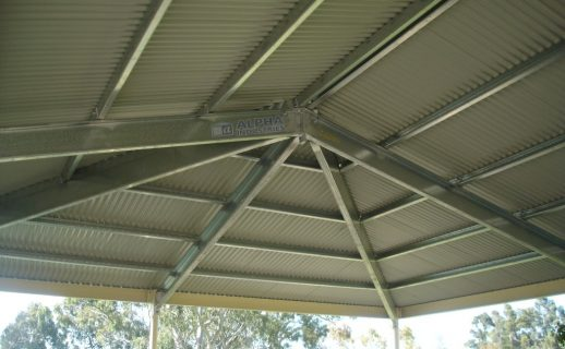Hipped Galvanised & Powdercoated Frame Verandah