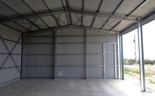 Implement Shed with Open Bays & Partition