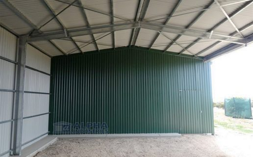 Cottage Green™ Implement Shed with Open Bays & Partition