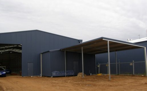 Ironstone® Warehouse with Attached Carport