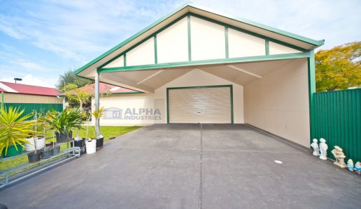 l shape attached carport garage