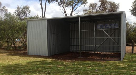 Open Bay Hay Shed
