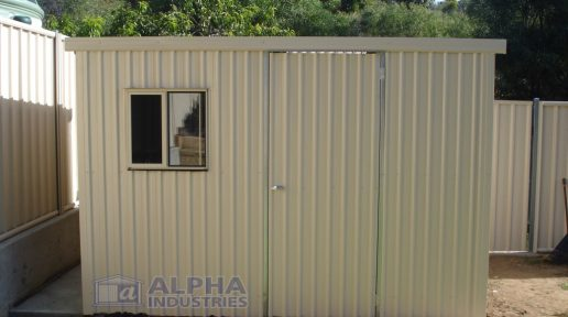 Skillion Toolshed with Sliding Window