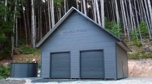 custom pitch shed garage