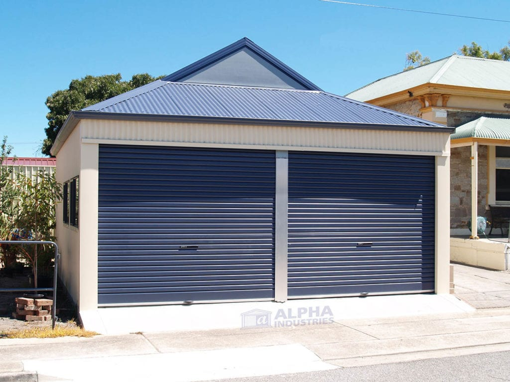Garages sheds alpha industries for Gable roof garage
