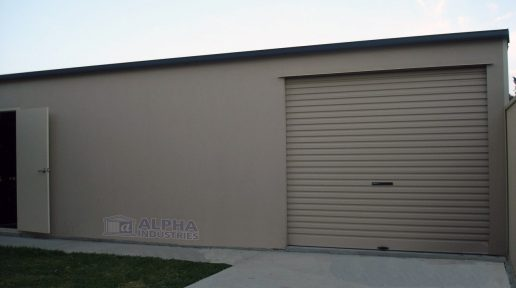shed garage rendered wall