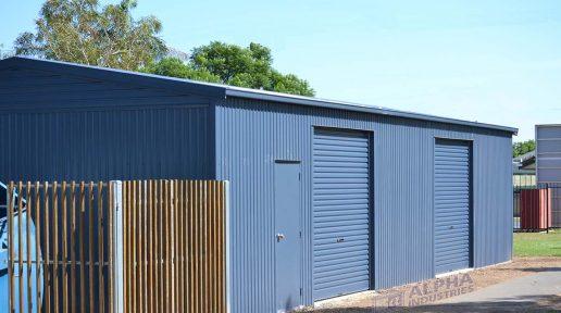 garage shed side access roller doors