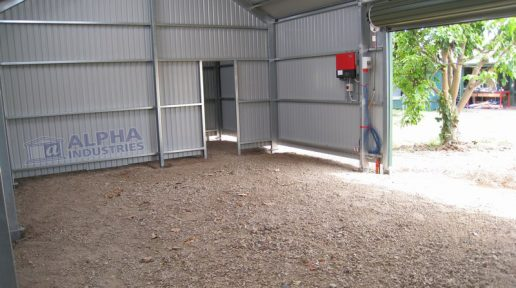 gable shed internal roller door