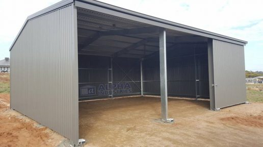 COLORBOND® Windspray Farm Shed with Open Bays