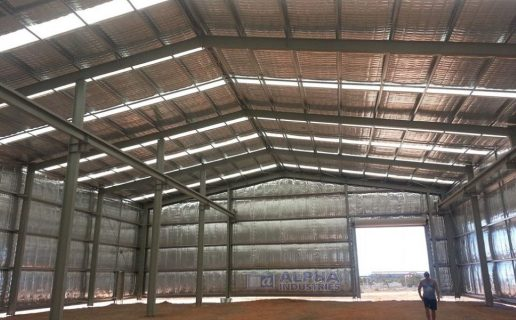 Insulated Industrial Shed with Skylights