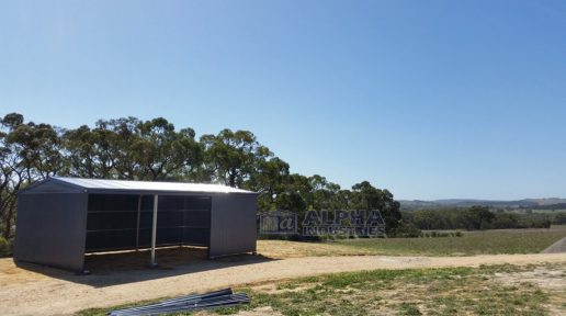 COLORBOND® Deep Ocean Rural Shed with Open Bays