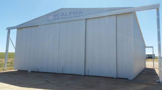 ZINCALUME® Farm Shed with Gable End Outriggers