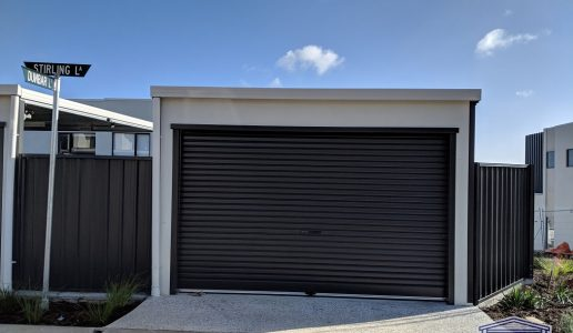 Freestanding Carport with Rendered Front